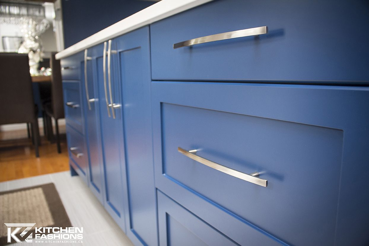 Painted Downpour Blue Benjamin Moore Blue Cabinets Kitchen In