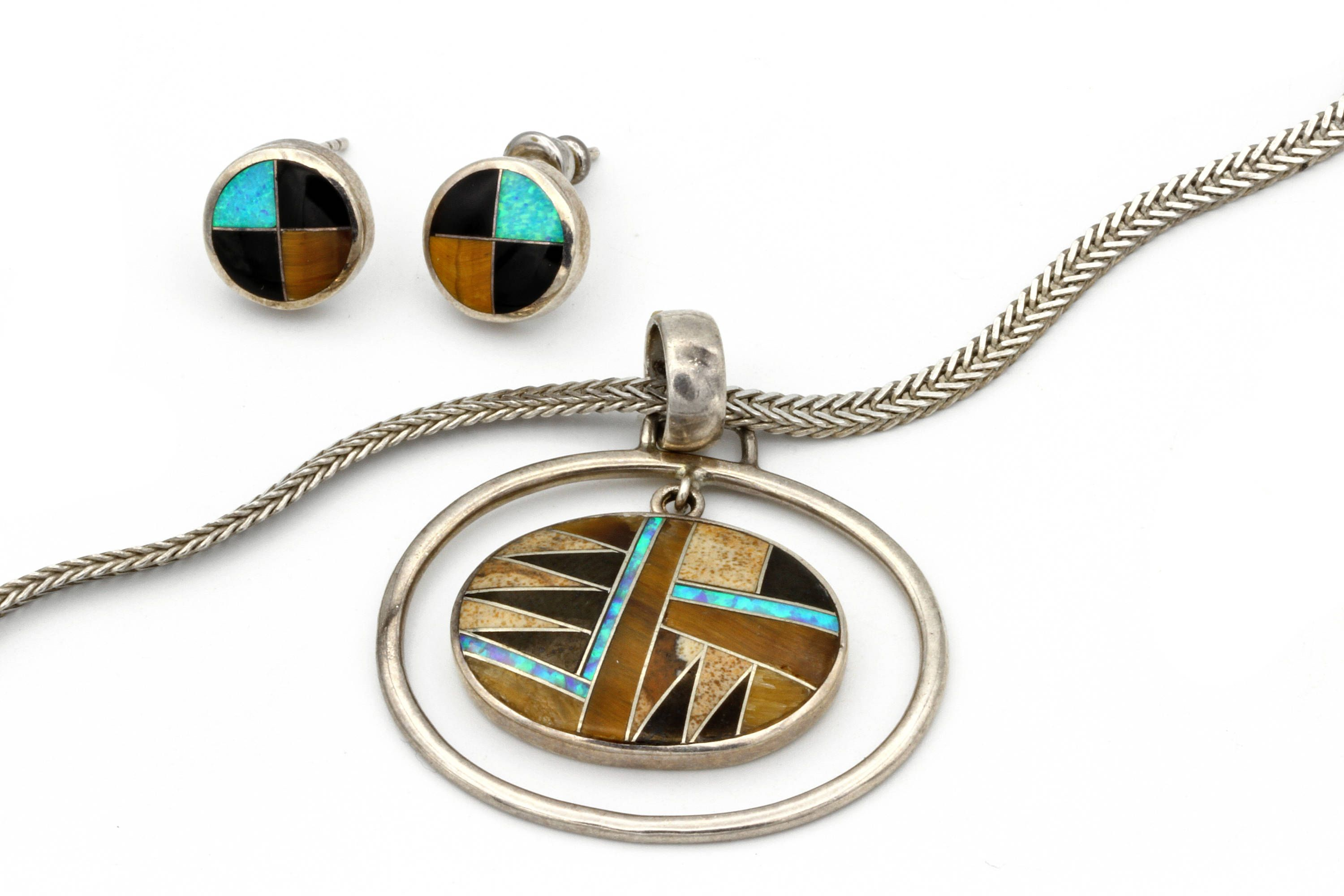 chain full mosaic cannot item zuni image channel pendant sterling turquoise w loaded inlay be