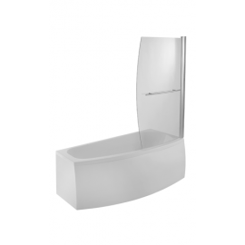 Moods Space Saver Shower Bath Screen Right Hand Option