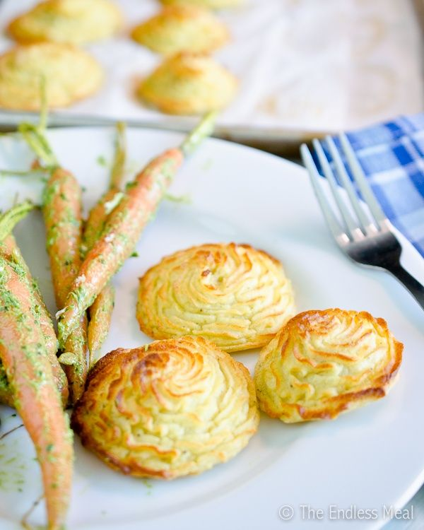 These pretty Duchess Potatoes are deliciously perfect for entertaining.