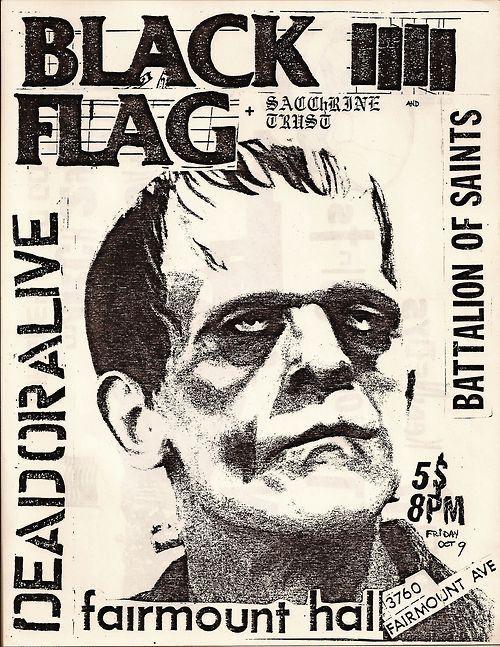 Frankenstein Black Flag Poster