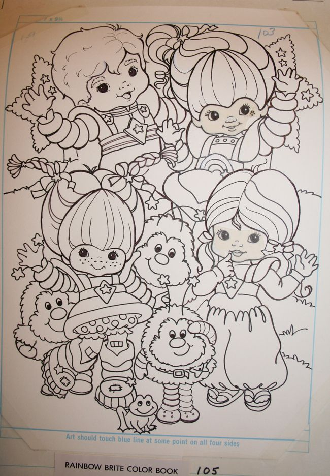 Rainbow Brite And Color Kids Layout From Rainbow Brite