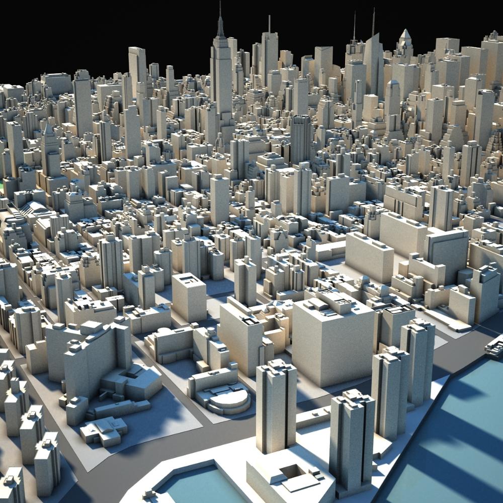 3d Model New York 3d Model Architecture 3d Model City Design