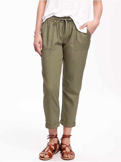 9400c3479e19 Linen-blend cropped pants | Old Navy | My Style | Linen pants outfit ...