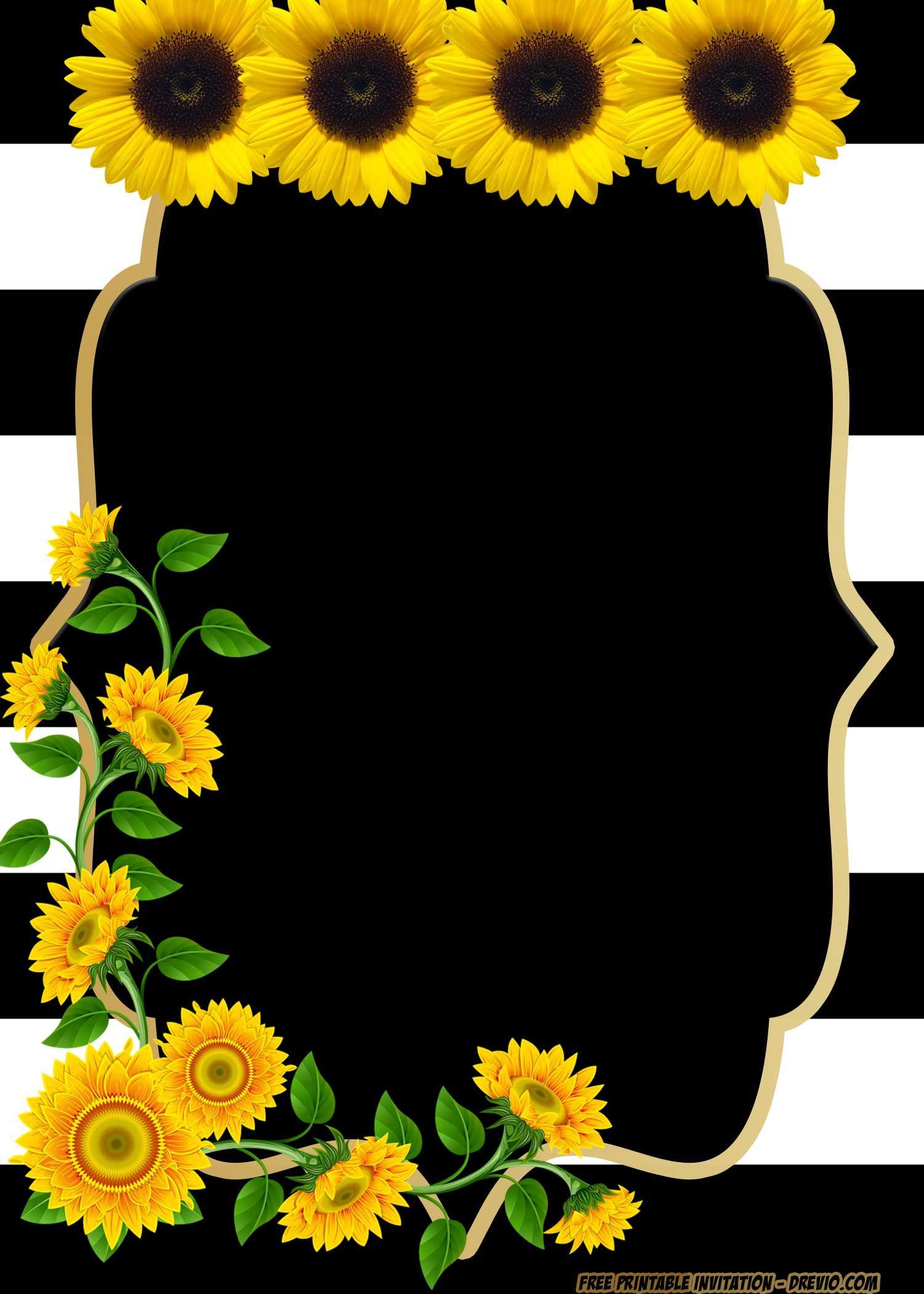 Free Printable Sunflower Birthday Invitation Templates Em 2020