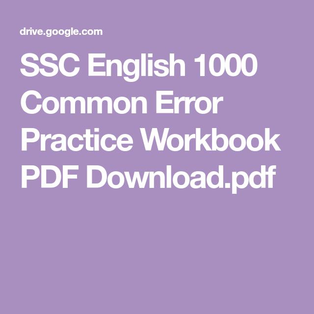 Common Error Pdf