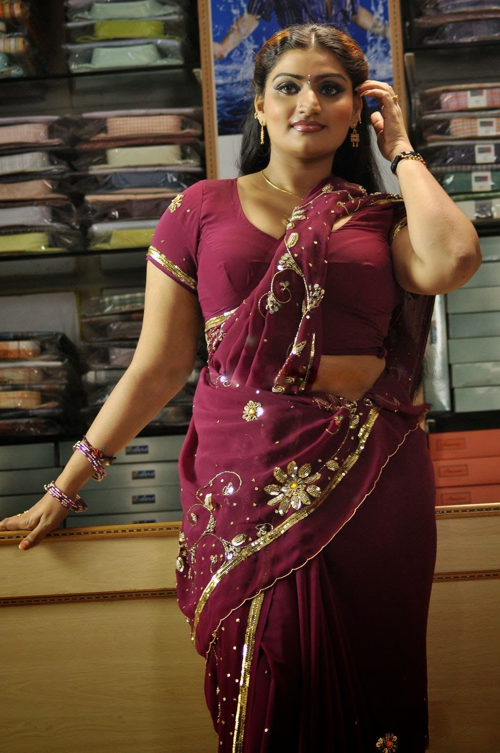 Actress Babilona Sexy Half Saree Babilona Hot Blouse -7358