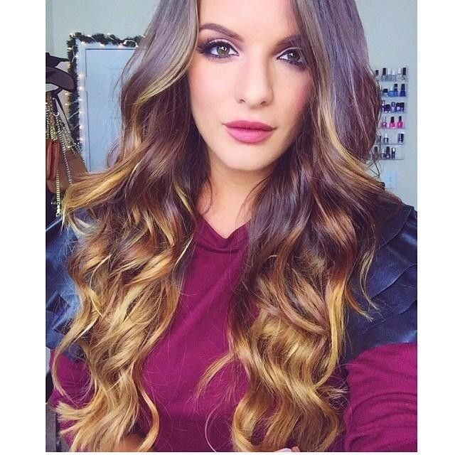 Balayage 160g 20 Ombre Hair Extensions 2 Dark Brown 6 Chestnut