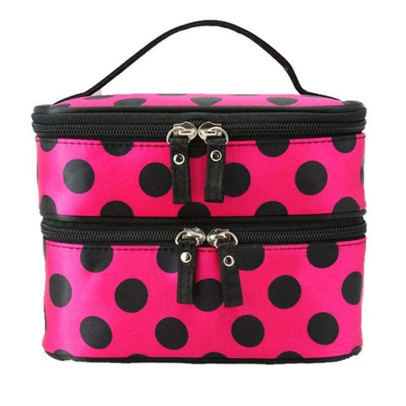 Wo weino 2016 New Arrival Storage Double Layer Cosmetic Bag Travel Toiletry Makeup Bag organizer boite de rangement