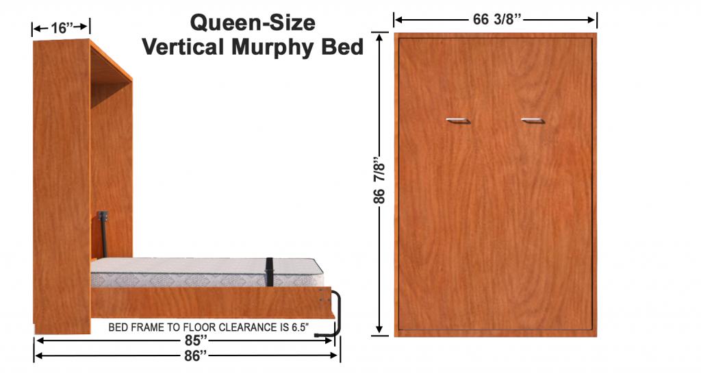 Vertical Queen Size Kit Murphy bed, Murphy bed plans