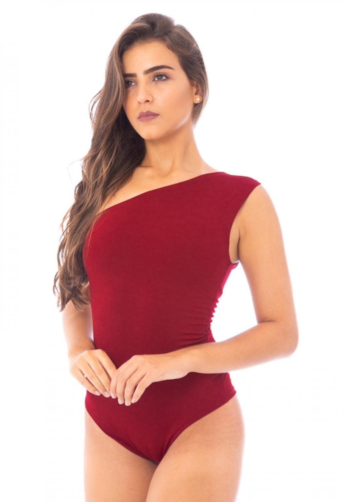 Body Moda Vicio Um Ombro So Vermelho Moda Ideias Fashion