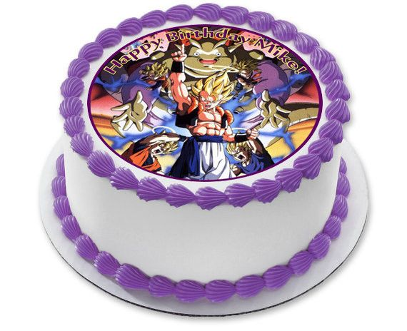 Dragon Ball Z Edible Birthday Cake Topper OR Cupcake Topper Decor