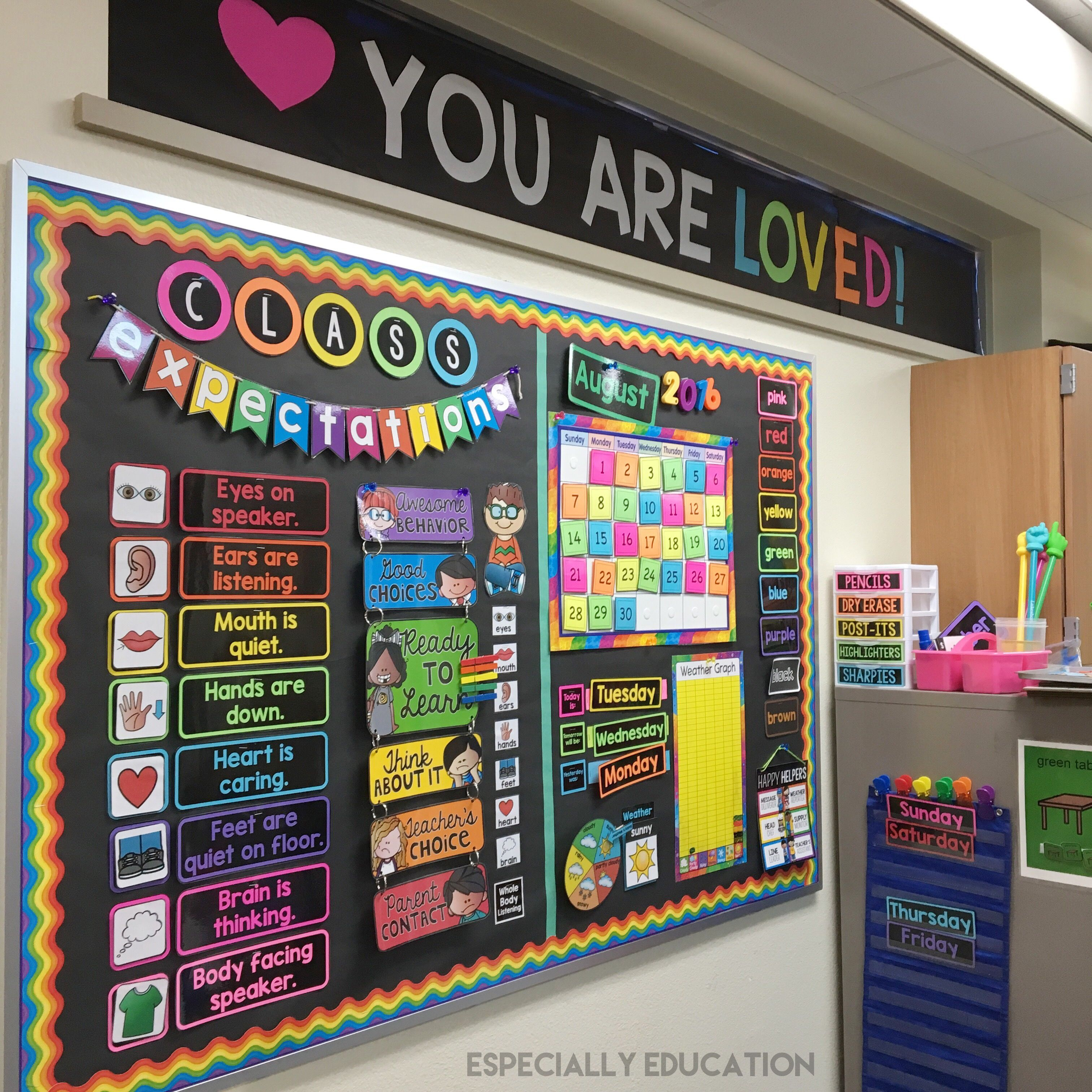 Classroom Board Decor ~ Especially education — school pinterest butcher