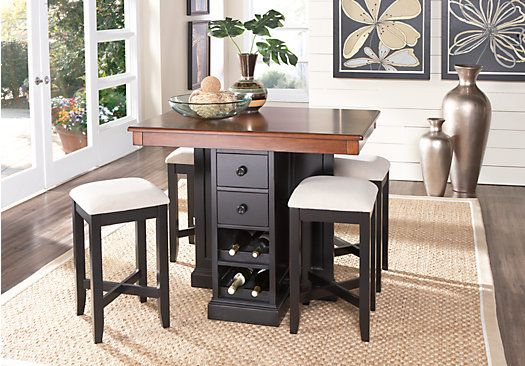 Shop For A Coventry Lane Black 5 Pc Bar Height Dining Set At Rooms