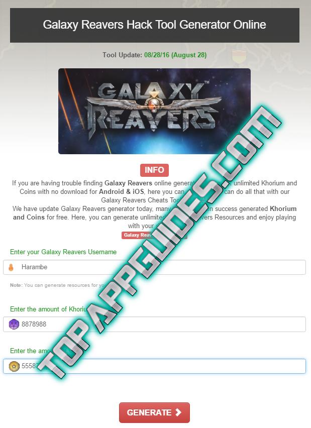galaxy reavers mod apk latest