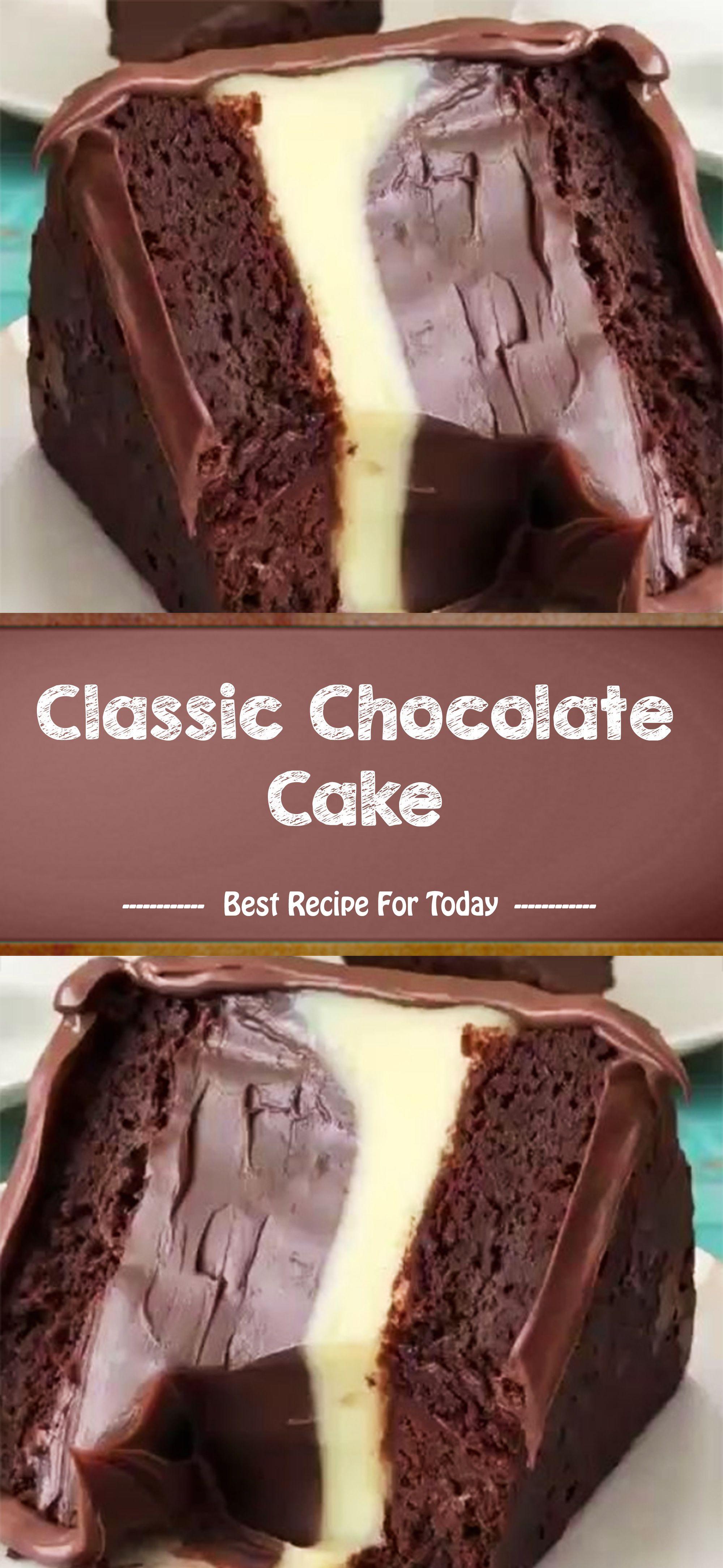 Classic Chocolate Cake #oreofrosting