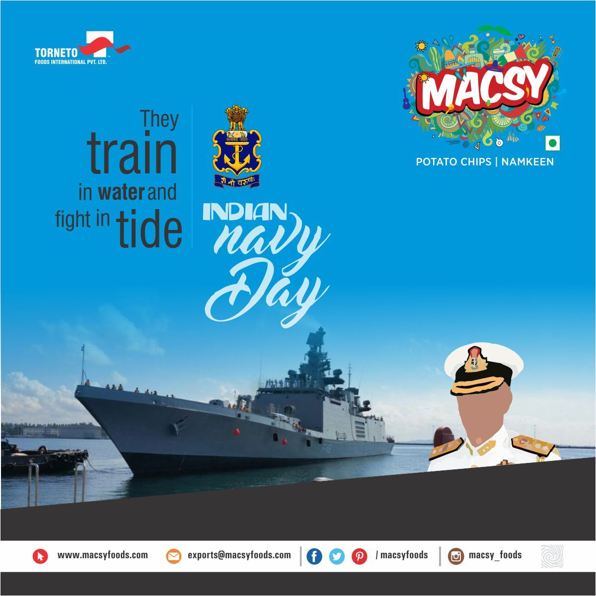 They Train In Water And Fight In Tide Indian Navy Day Macsy Namkeen Wafers Instafood Indian Navy Day Navy Day Indian Navy Day Indian Flag Photos