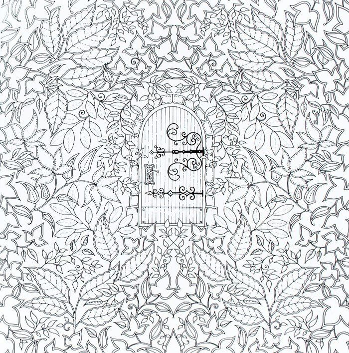 - Secret Door Garden Coloring Pages, Adult Coloring Book Pages, Johanna  Basford Coloring