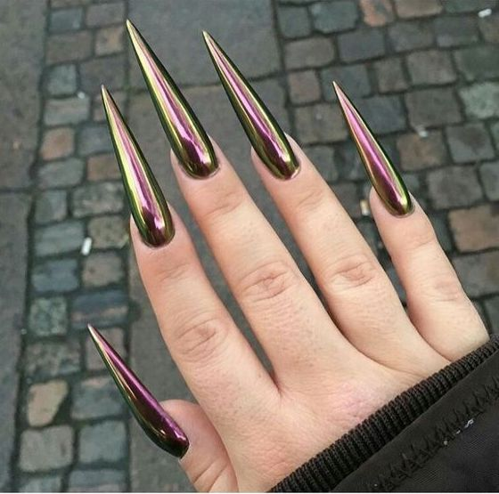 Long Nails Are Great Choice For You To Get A New Look Page 46 Of 47 Pointed Nails Sharp Nails