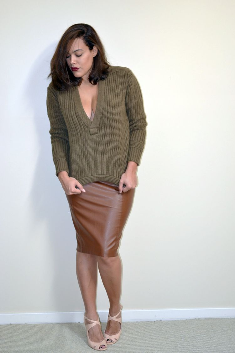 How to Wear: H&M Studio AW14 Collection, Olive Green V-Neck ...