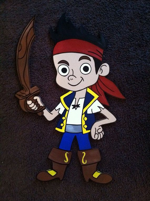Jake the pirate wall decor hanging party prop | Kids Jake and the ...
