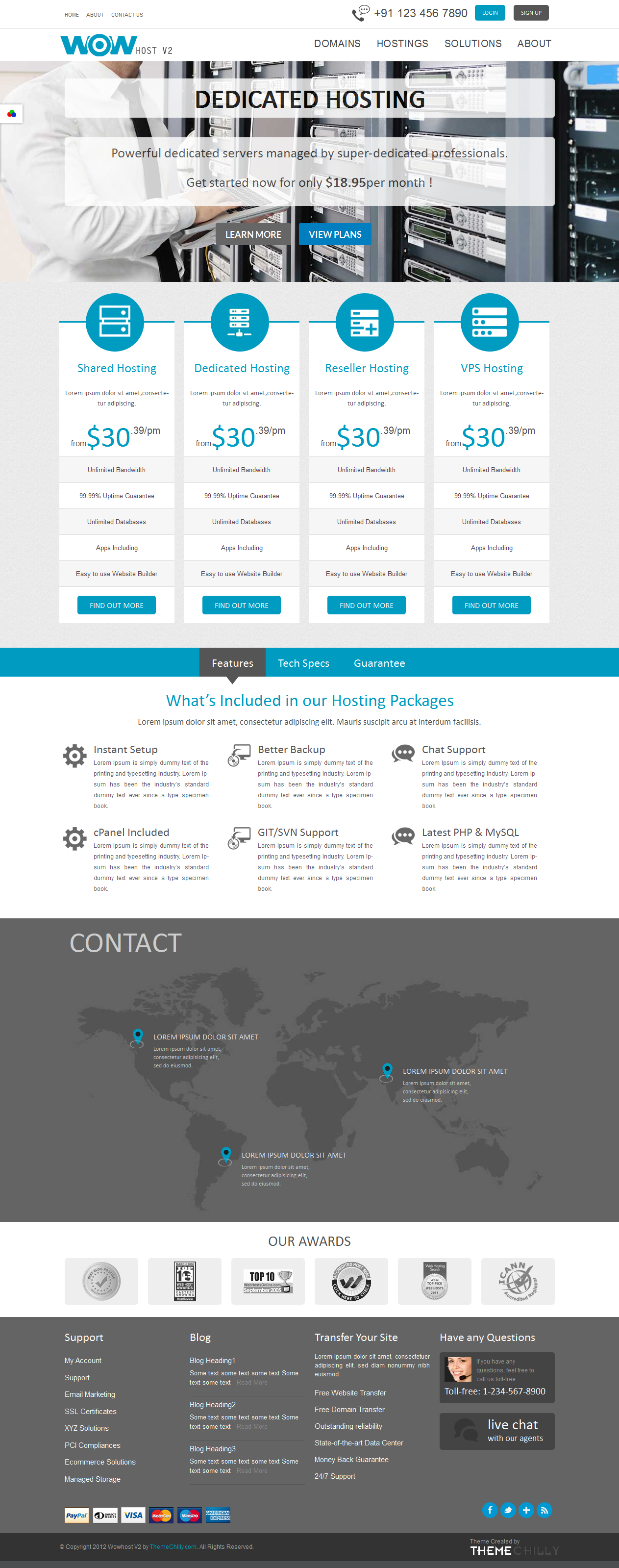 Wowhost V2, professional #responsive #wordpress #hosting #theme with ...