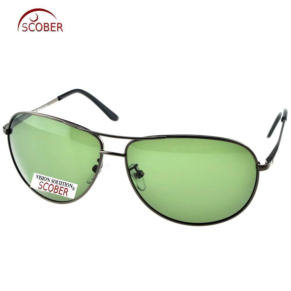 13865264dae SCOBER   Large Pilot Black Wave Temple Designers Polarized Sunglasses  Custom Made Nearsighted Minus Prescription Lens -1 to -6 Riding glasses