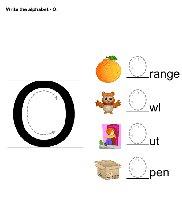 Letter Writing O prek – Letter Writing Worksheets for Kindergarten