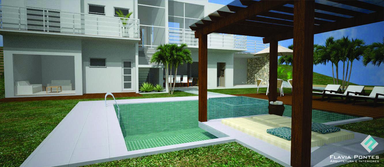 Piscina com pequeno bangalô! Veja mais em http//bit.ly