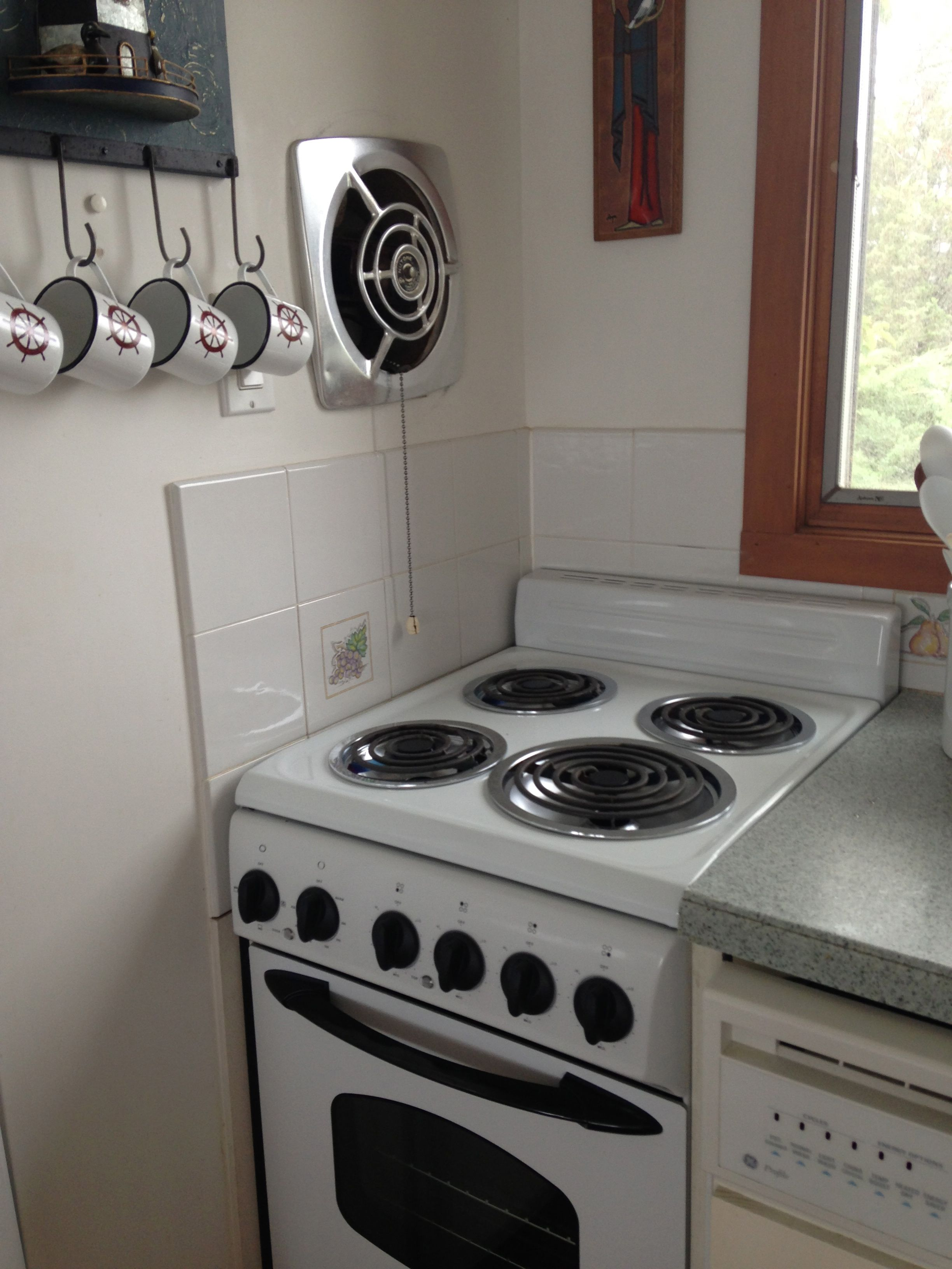 My Cottage Kitchen With Vintage Nutone Fan With Operational Pull