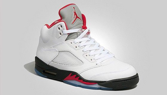 Air Jordan V 'White/Fire Red' – Disponible ce soir