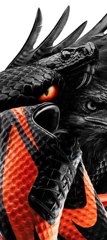 Nike Hypervenom #nikehypervenom #bird #snake #evil #nike #nikeshoes #cleats #darkandevil #dark #soccer #soccerfan