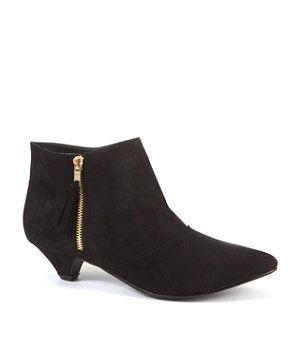 Black (Black) Teens Black Kitten Heel Ankle Boots | 259922001 ...
