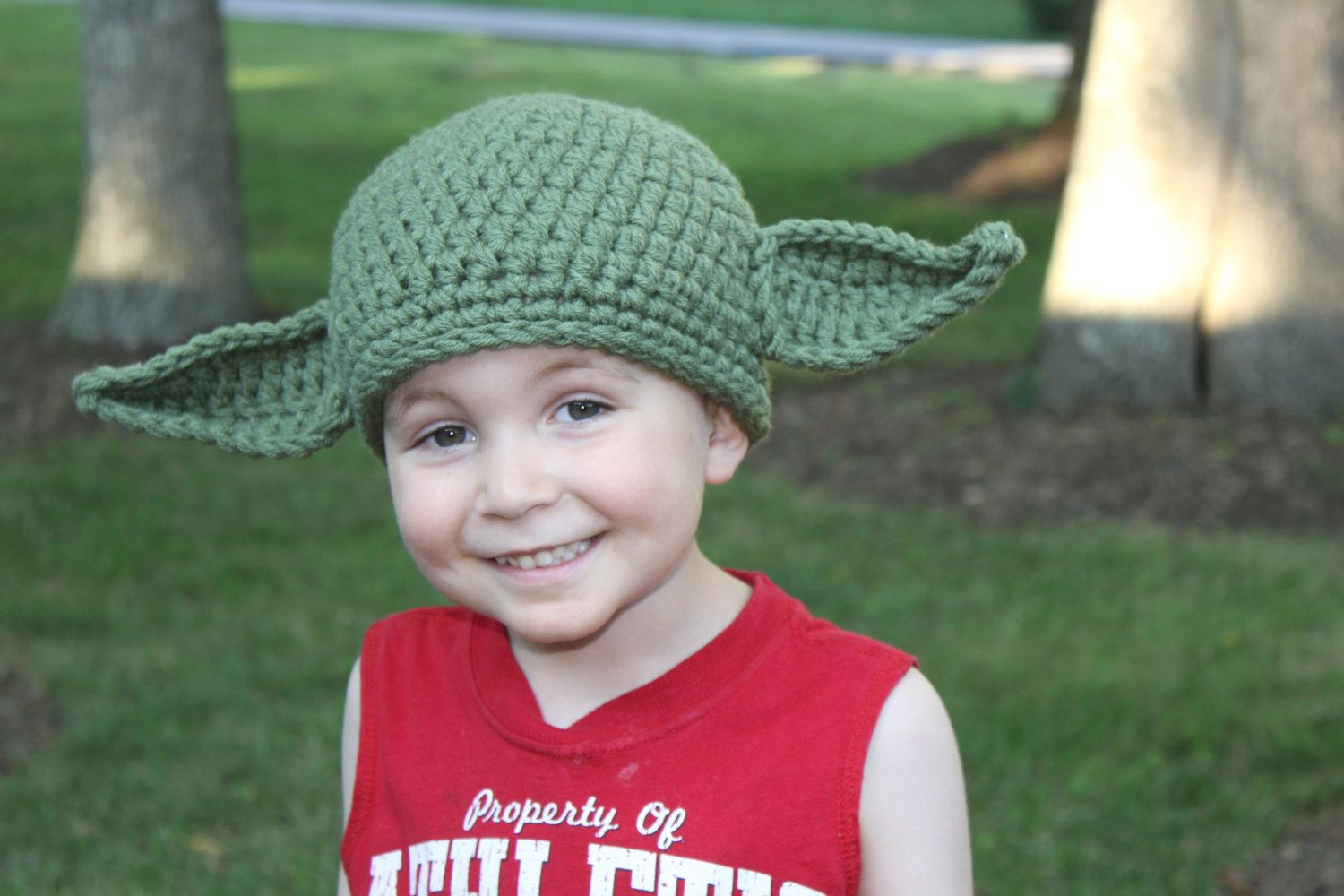 Yoda hat with posable ears crocheted in many sizes great halloween yoda hat with posable ears crocheted in many sizes great halloween costume for star dt1010fo