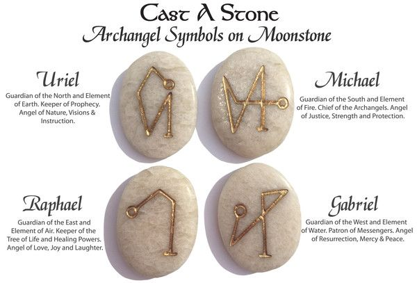 New! Archangel Pocket Stones on Moonstone *Limited Quantity! – Cast a Stone