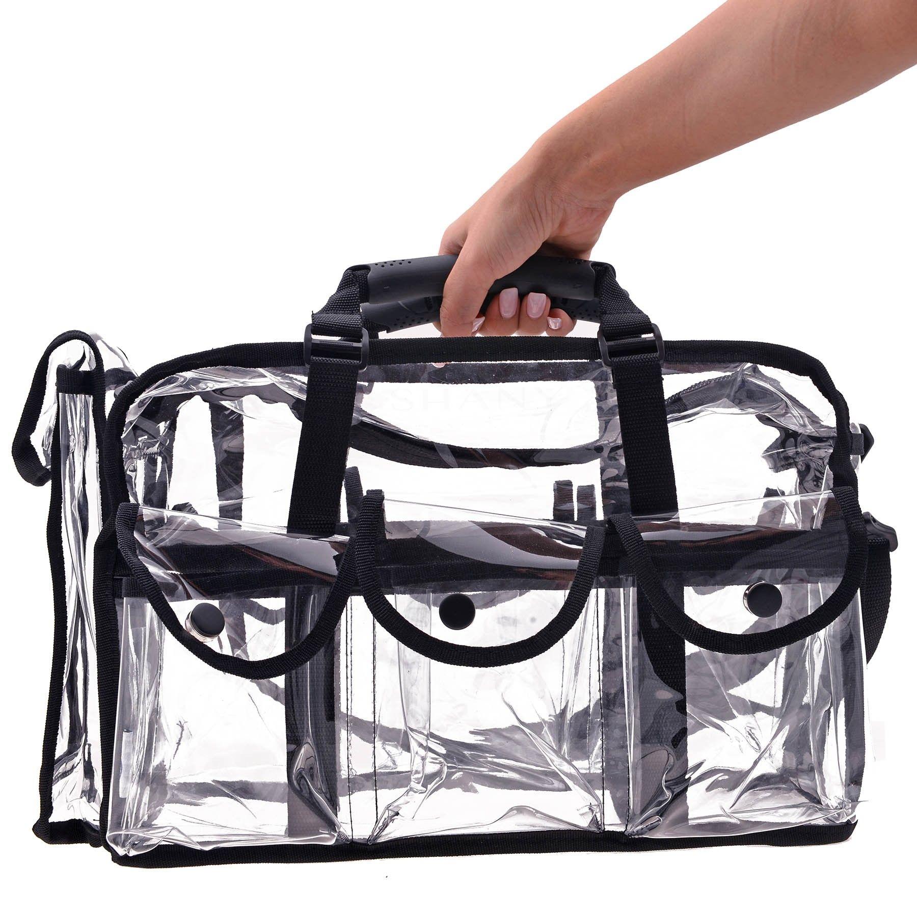Clear Makeup Bag, Pro Mua rectangular Bag with Shoulder