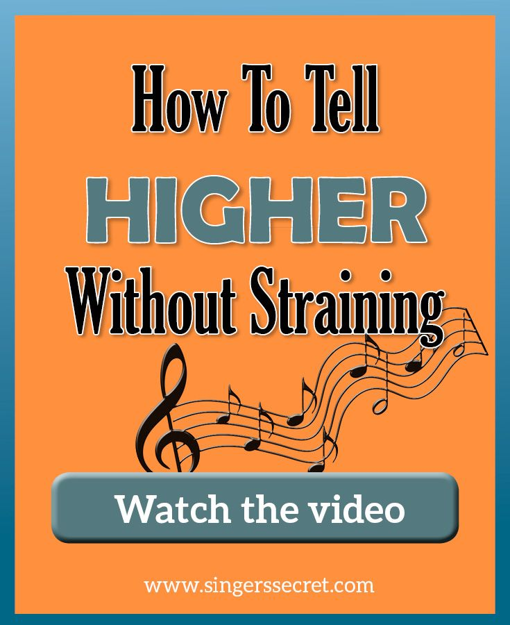 How to sing higher without straining singers secret
