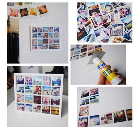 DIY Picture Sticker Board pictures photos diy frame easy ...