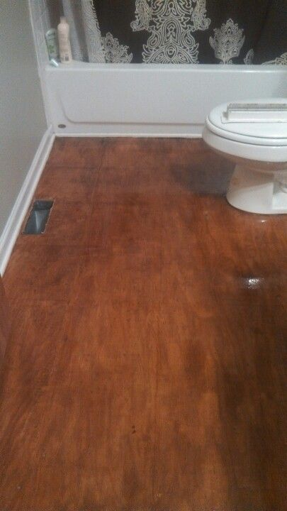 My Bathroom Floor Sand And Stained Plywood Sub Floor - Plywood for bathroom subfloor