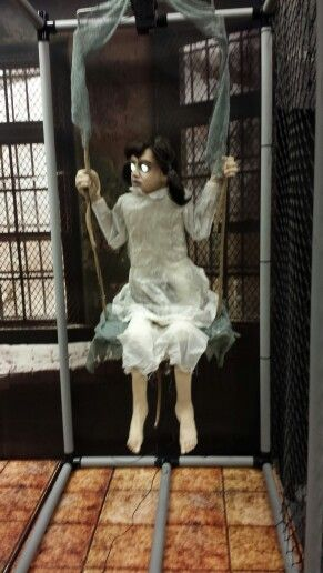 An awesome, creepy looking girl on a swing that I could ...
