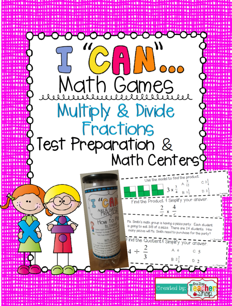5th Grade Multiplying And Dividing Fractions Game  5th Grade Math Centers