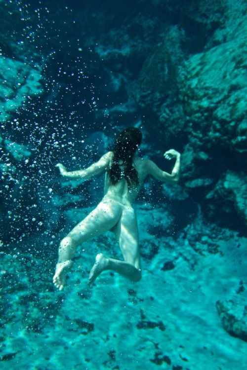 Naked underwater nude swimming aqua