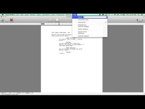 Final Draft intro videos Writing, Screenwriting/Screenplays