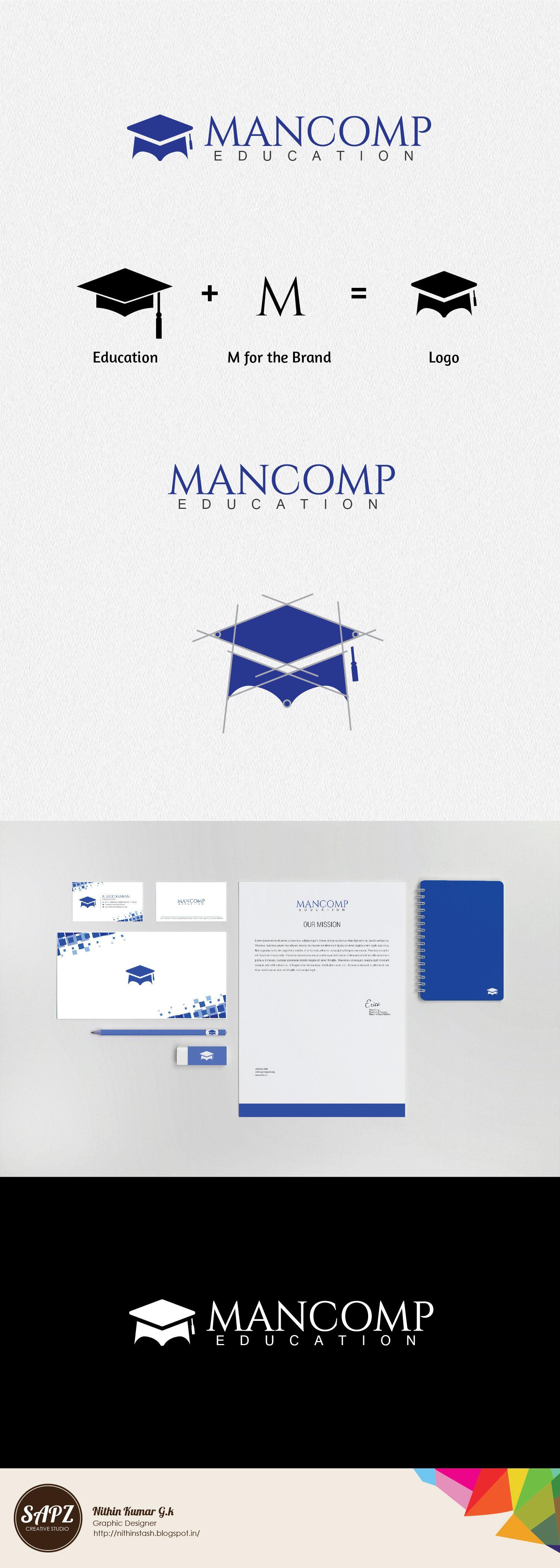 Mancomp Logo .. Educational Logo.. overseas education