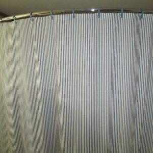 White Battenburg Lace Shower Curtain