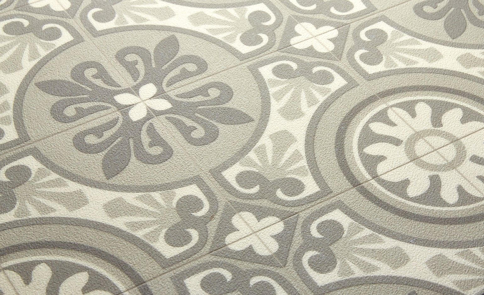 Saint maclou sol vinyle emotion carreau ciment beige - Tapis pvc carreaux de ciment ...