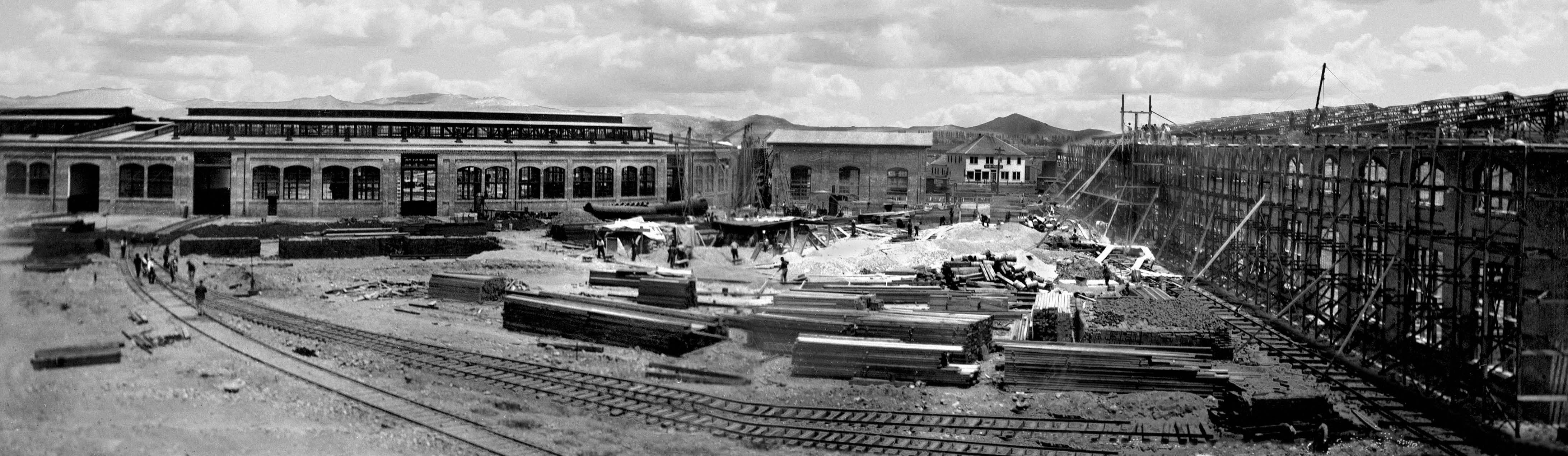 The Central Pacific Railroad wanted to move its operations at Wadsworth, NV closer to Reno. The Central Pacific 21-stall Roundhouse was moved to Sparks, NV and expanded to 40 stalls in 1904 to 1905. It was promoted as the largest railroad roundhouse in the world.
