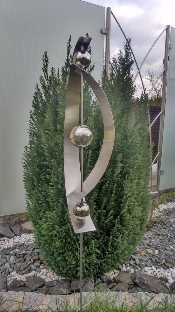 Gartenstecker edelstahlstele edelstahl 1 2 m gartendeko for Gartendeko edelstahl gartenstecker