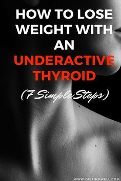 Losing weight when you have an underactive thyroid can be done successfully by consistently followin...