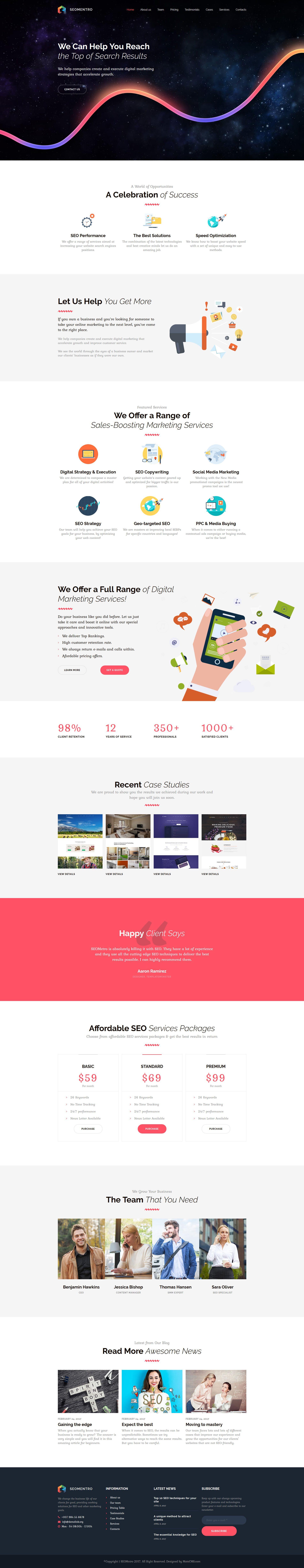 Seomentro - SEO & Digital Marketing Agency Moto CMS 3 Template | Seo ...